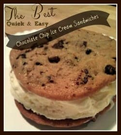 How To Make Chocolate Chip Cookie Ice Cream Sandwiches 1