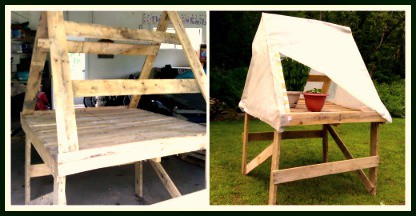 Make A Mini Pallet Greenhouse for $5 !