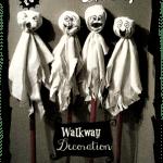 Easy DIY Spooky Ghost Walkway Decorations