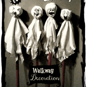 How To Make Spooky Ghost Walkway Decorations