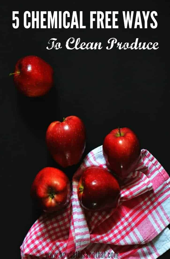 how to clean apples naturally