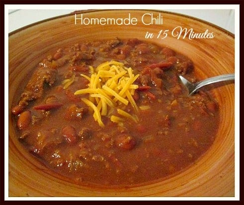 15 Minute Suppers - Homemade Beef & Bean Chili