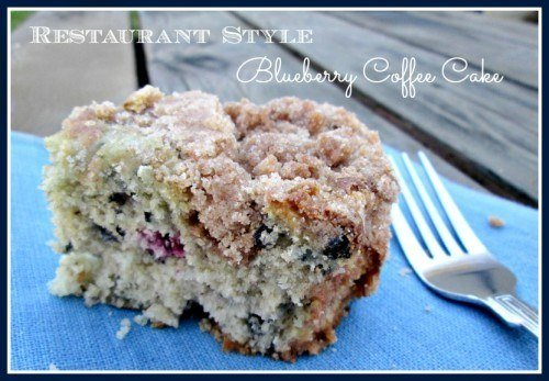 Restaurant Style Blueberry Streusel Coffee Cake Recipe