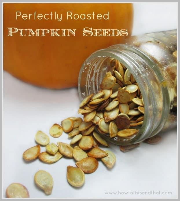 toast pumpkin seeds