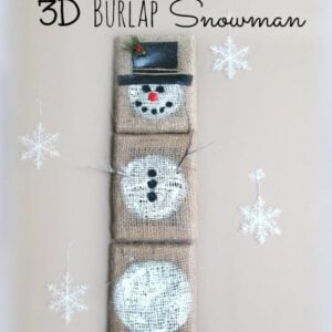 Easy 3D Burlap Snowman Craft Wall Hanging