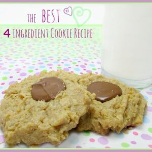 The Best 4 Ingredient Cookie Recipe Ever