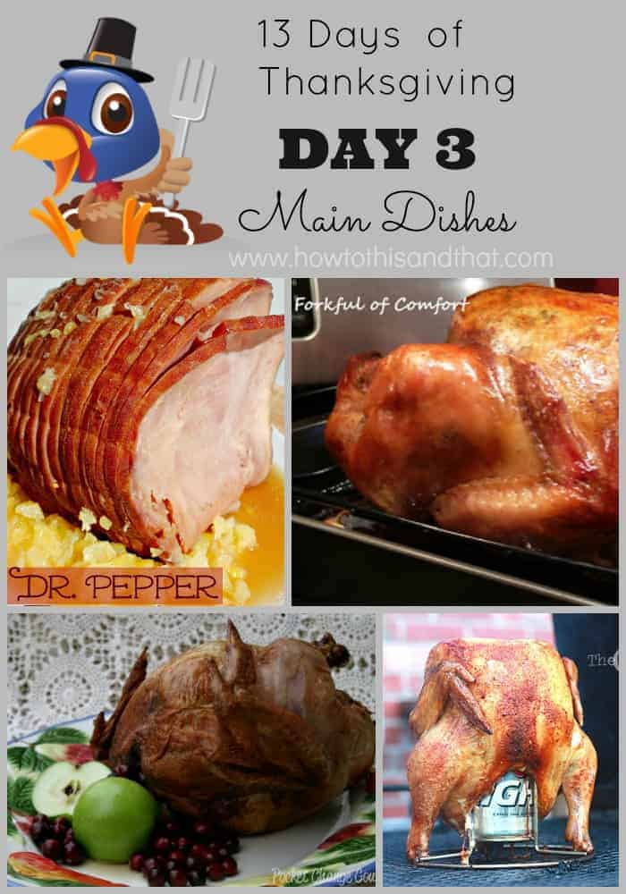 13 Days of Thanksgiving DAY 3 - Main Dishes