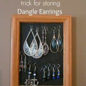 Quick & Inexpensive Trick For Storing Dangle Earrings