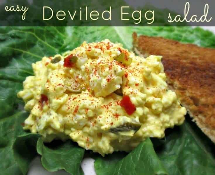 Easy Deviled Egg Salad Recipe
