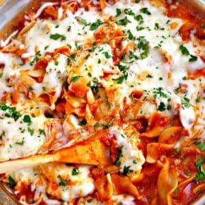 Easy Skillet Lasagna #15MinuteSuppers   2