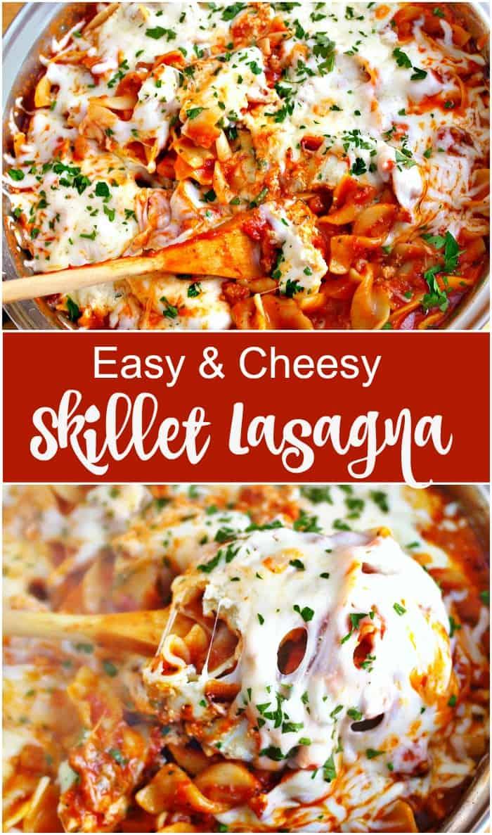 Easy Skillet Lasagna #15MinuteSuppers 1