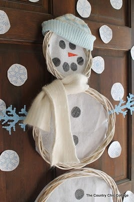 snowman door decor-1
