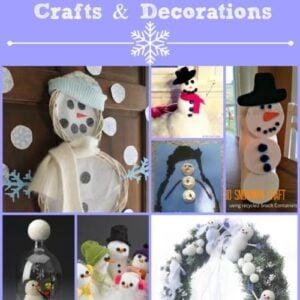 Winter Fun! 20 Snowman Decoration and Craft Ideas 10