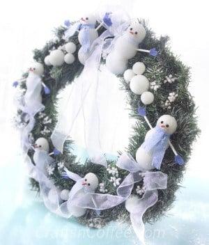snowman-wreath
