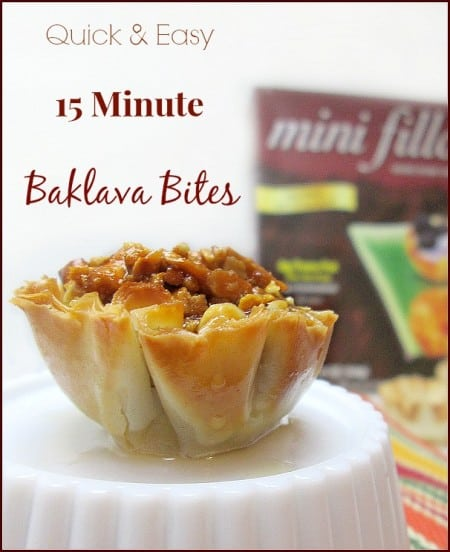 Quick And Easy 15 Minute Baklava Bites Recipe