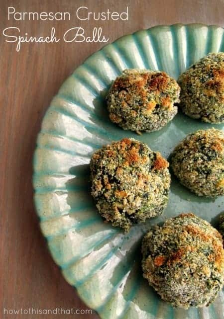Parmesan Crusted Spinach Balls