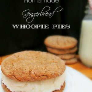 Homemade Gingerbread Whoopie Pies With Cream Cheese Filling