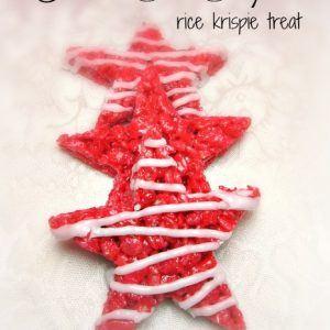 Holiday Fun Star Shaped Rice Krispie Treats