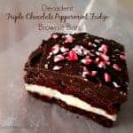 Decadent Triple Chocolate Peppermint Fudge Brownie Bars