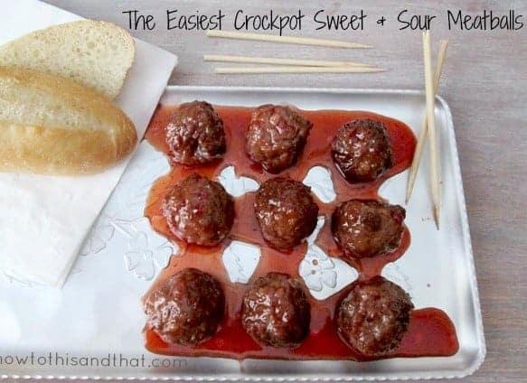 The Easiest Sweet & Sour Crockpot Meatballs