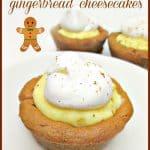 Easy Semi-Homemade Mini Gingerbread Cheesecakes