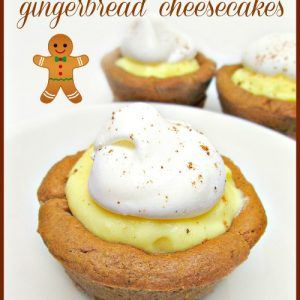 Easy Semi-Homemade Mini Gingerbread Cheesecakes   6