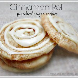 Quick & Easy Cinnamon Roll Pinwheel Sugar Cookies