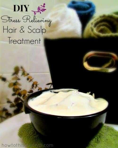 DIY Stress Relieving Lavender Hair & Scalp Treatment