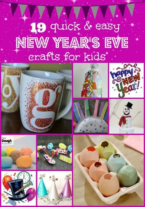 19 Quick And Easy New Year's Eve Crafts For Kids