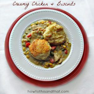 Easy Creamy Chicken & Biscuits Recipe