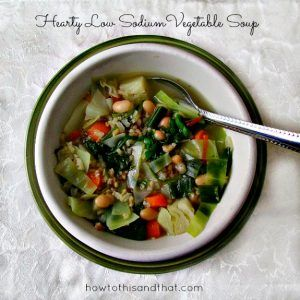 Hearty Low Sodium Vegetable Soup