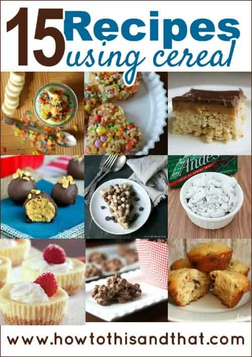 15 Deliciously Creative Recipes Using Cereal