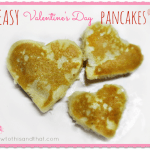 Easy Valentine's Day Heart Pancakes