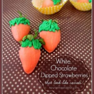White Chocolate Dipped Strawberries For Spring
