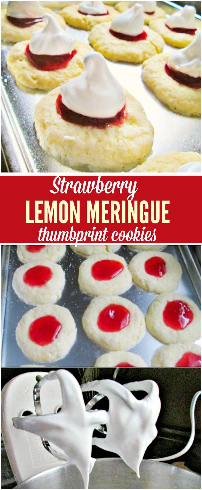 strawberry thumbprint cookies