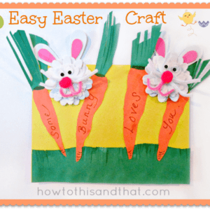 Easter with Oriental Trading & An Easy Easter Bunny Craft