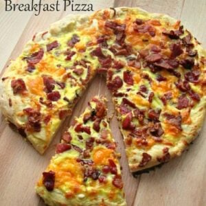 Easy Homemade Bacon Cheddar Breakfast Pizza   1