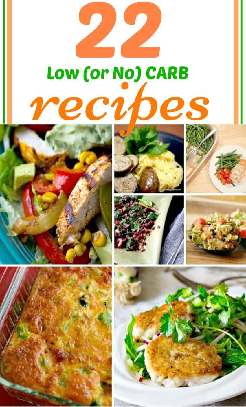 no carb recipes