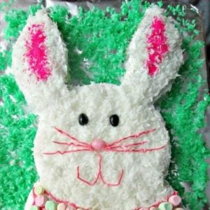 How To Make The Easiest Tie Dyed Easter Bunny Cake    1