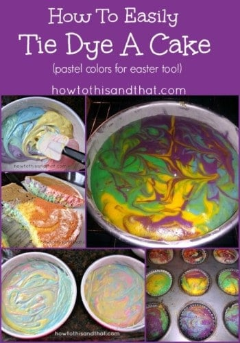 How to make a tie dyed cake the easy way for Easy method of making cake