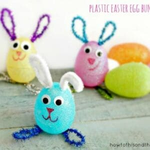Plastic Egg Easter Bunnies Craft Project 1