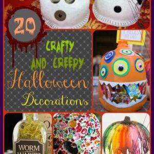20 Crafty & Creepy Halloween Decorations
