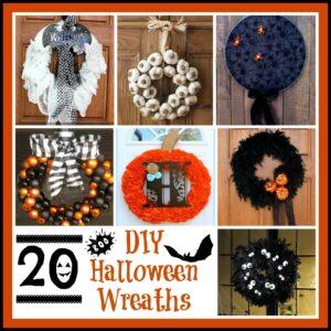20 Cleverly Creepy DIY Halloween Wreaths 1
