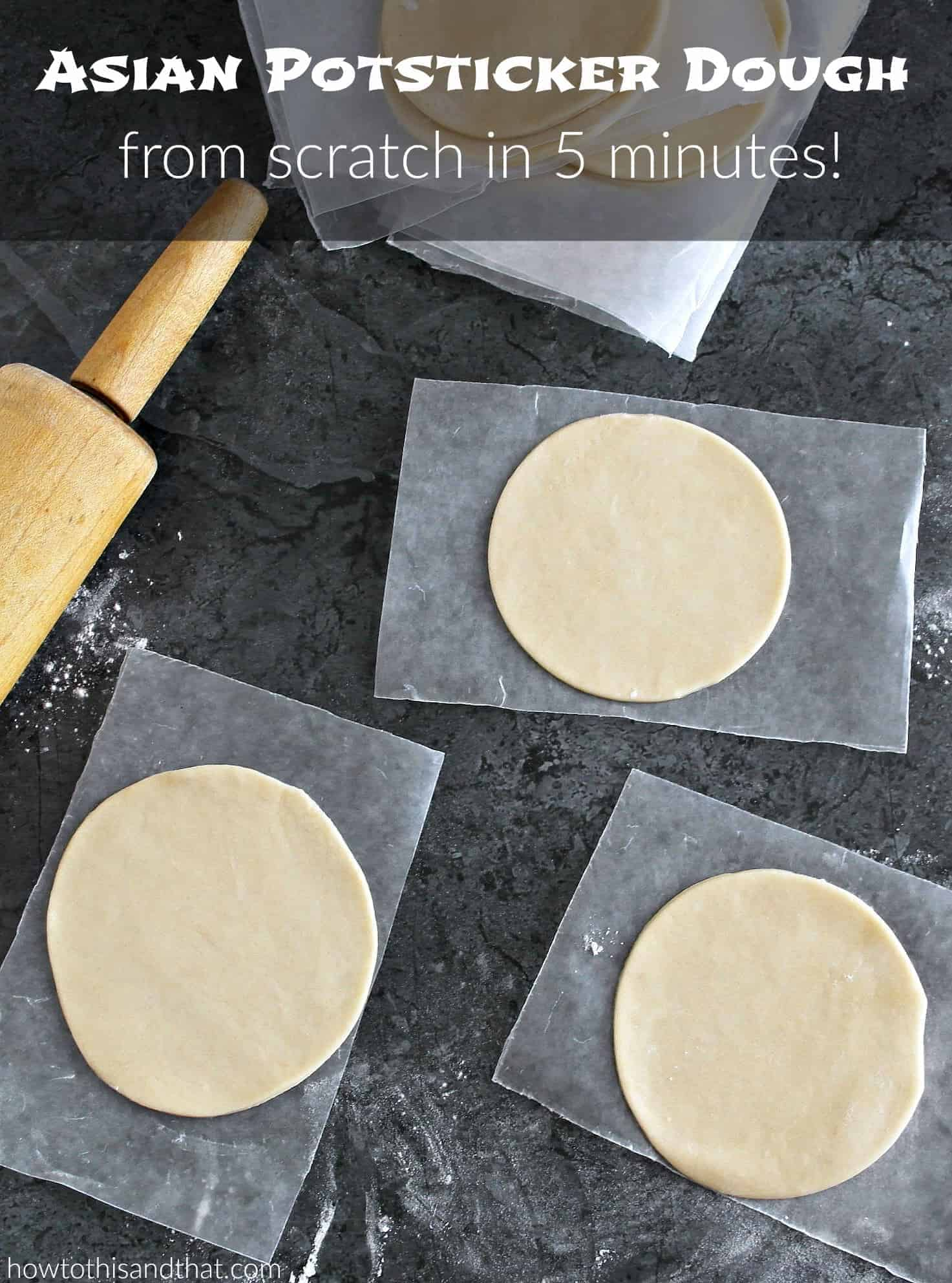 VIDEO: How To Make Amazing Asian Potsticker Dough in 5 Minutes 1