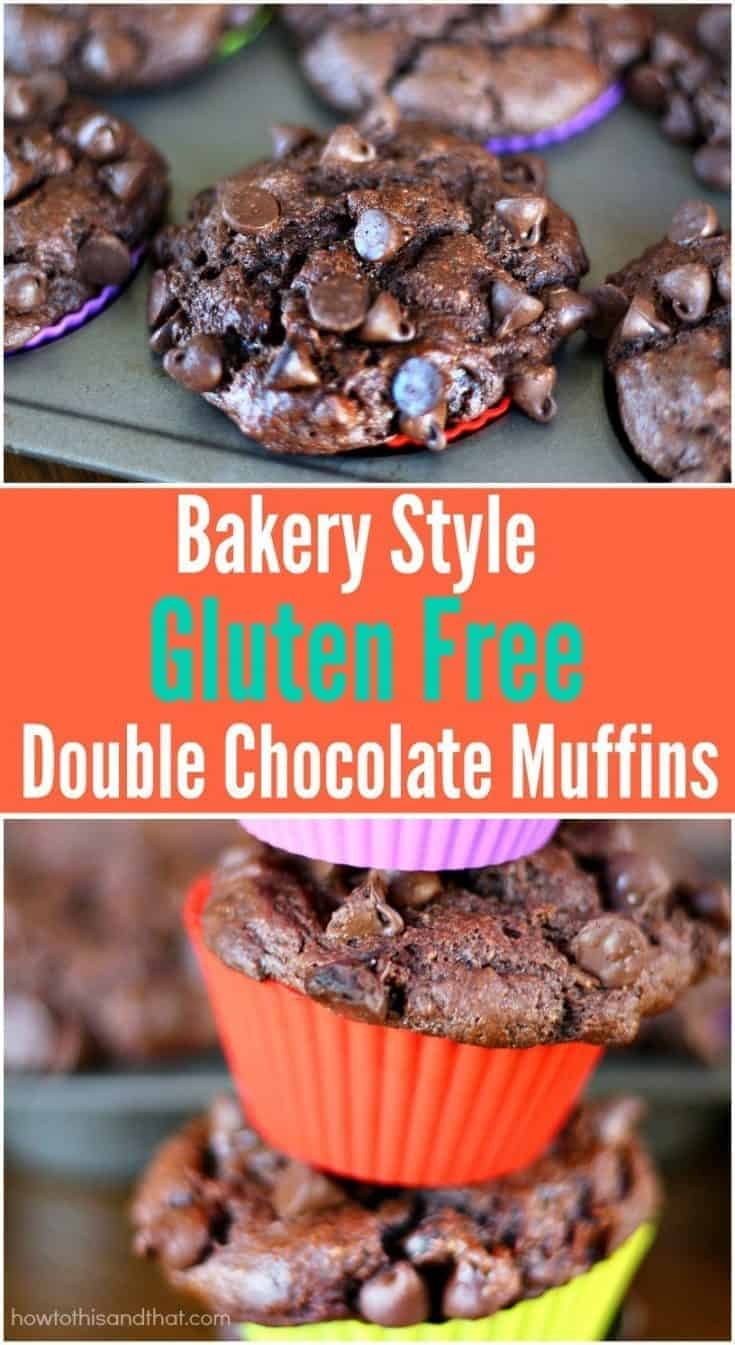 Bakery Style Gluten Free Double Chocolate Muffins