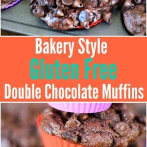 Bakery Style Double Chocolate Gluten Free Muffins