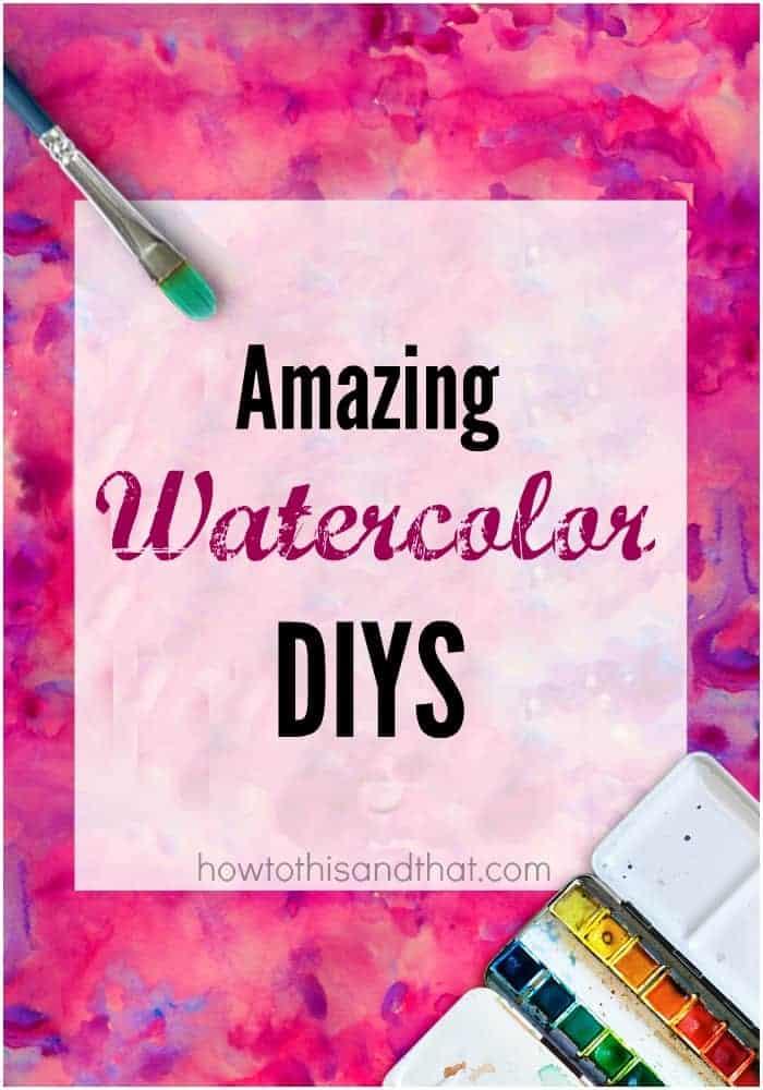 watercolor diys projects teens