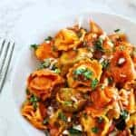 Chicken & Cheese Tortellini In Fire Roasted Red Pepper Sauce
