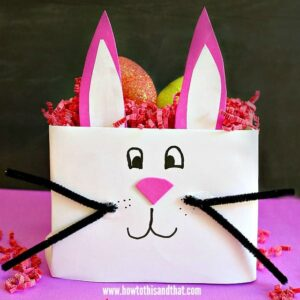 Easy Easter Bunny Basket Craft- DIY Kids