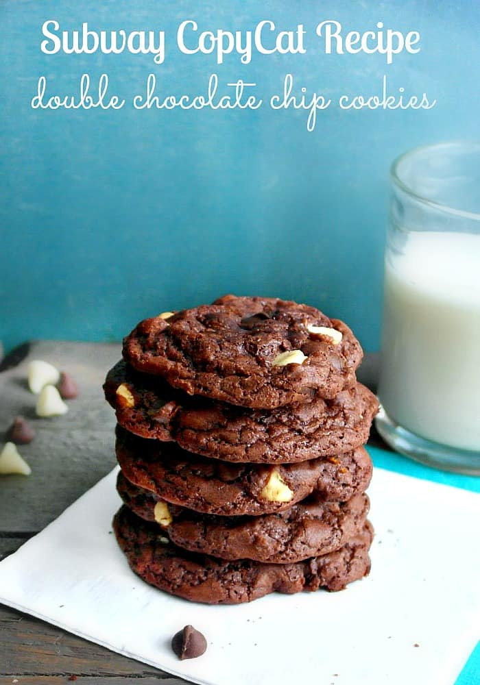 Subway Copycat Double Chocolate Cookies
